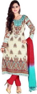Dulaar Fashions Cotton Wool Blend Self Design Salwar Suit Dupatta Material