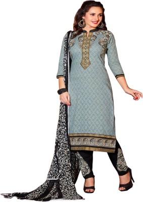 Shubharambh Creation Crepe Self Design Salwar Suit Dupatta Material