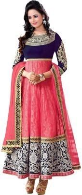 Miss Charming Net Self Design Dress/Top Material