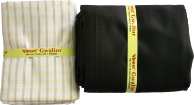 Vinner Cotton Polyester Blend Checkered Shirt & Trouser Fabric