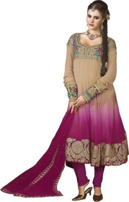 Vastrani Georgette Embroidered Dress/Top Material(Un-stitched) at flipkart