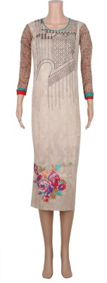 Zia Cotton Embroidered Kurti Fabric