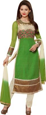 Nandani Fashion Jacquard Embroidered Semi-stitched Salwar Suit Dupatta Material