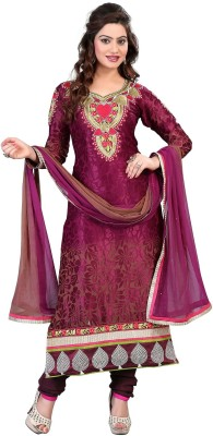 Sunrise International Georgette Embroidered Semi-stitched Salwar Suit Dupatta Material