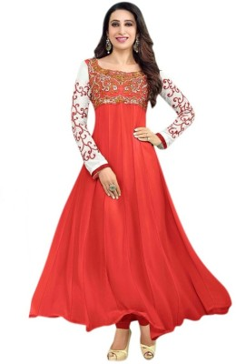 SAMAYCREATIONSTORE Georgette Embroidered Dress/Top Material