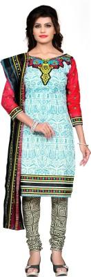 Nakoda Trading Cotton Printed Salwar Suit Dupatta Material
