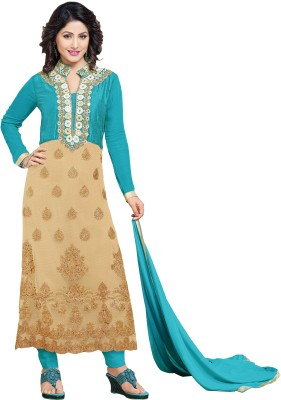 Amrozia Georgette Embroidered Salwar Suit Dupatta Material