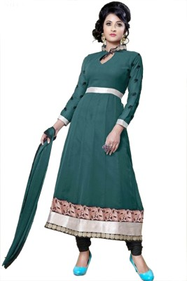 Panku Georgette Embroidered Semi-stitched Salwar Suit Dupatta Material