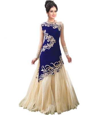 Dr Creation Georgette Embroidered Semi-stitched Gown
