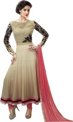 Shop Plaza Georgette, Silk, Georgette Embroidered Semi-stitched Salwar Suit Dupatta Material