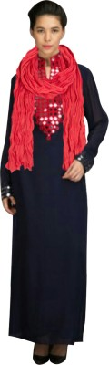 Styles Clothing Georgette Embroidered Semi-stitched Gown, Salwar and Dupatta Material