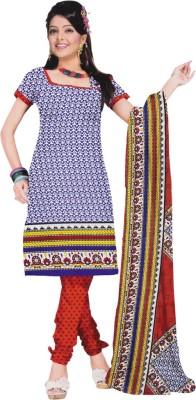 Vibranz Fashion Synthetic Self Design Salwar Suit Dupatta Material