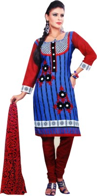 Sonakshi Creation Cotton Self Design Salwar Suit Dupatta Material