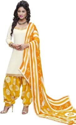 Vastrani Satin Printed Salwar Suit Dupatta Material