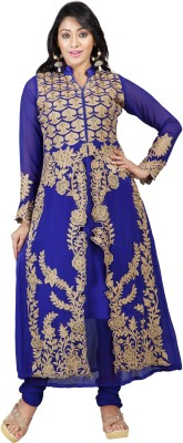 Florence Georgette Embroidered Dress/Top Material