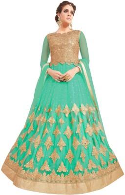 Fabfirki Fashion Hub Net Embroidered Semi-stitched Salwar Suit Dupatta Material