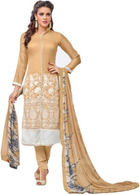 FB99 Chanderi Embroidered Dress/Top Material