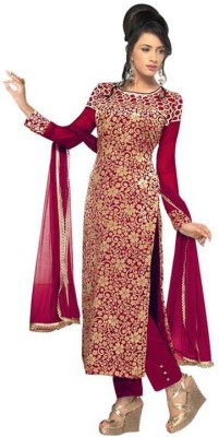 Jabudi Creation Brasso Embroidered Semi-stitched Salwar Suit Dupatta Material
