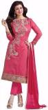Zeekty Fashion Chanderi Embroidered Dres...