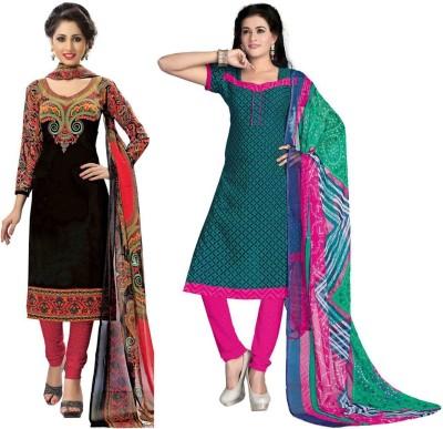 Sonal Dress Crepe Printed Salwar Suit Dupatta Material, Salwar Suit Material, Dress/Top Material