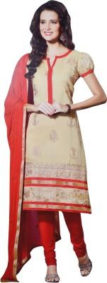 LT Silk Self Design Semi-stitched Salwar Suit Dupatta Material