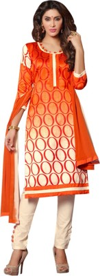 Ligalz Cotton Linen Blend Printed Semi-stitched Salwar Suit Dupatta Material