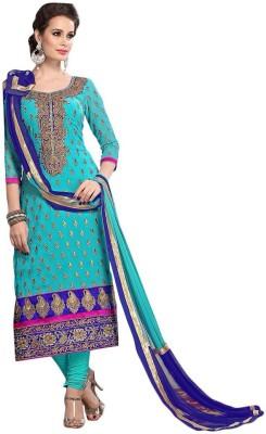 Avtrendz Chanderi Embroidered Salwar Suit Dupatta Material