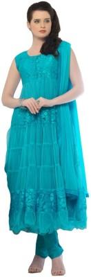 Harikrishn Net Floral Print Semi-stitched Salwar Suit Dupatta Material