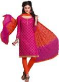 Manmauj Chanderi Embroidered Salwar Suit...
