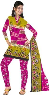 Fabfirki Fashion Hub Crepe Printed Salwar Suit Dupatta Material