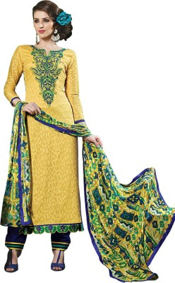 Aahalya Cotton Embroidered Salwar Suit Material