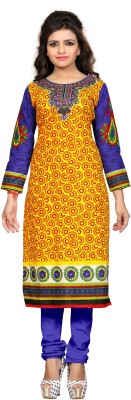 Nakoda Trading Cotton Printed Kurti Fabric(Un-stitched) at flipkart