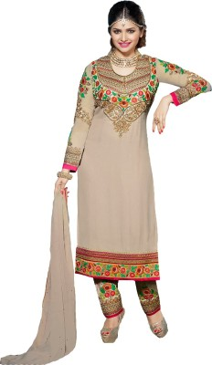 Porwal Bros Georgette Embroidered Salwar Suit Dupatta Material