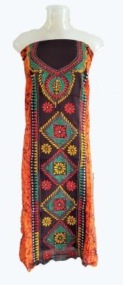 skhoza Cotton Embroidered Kurti Fabric
