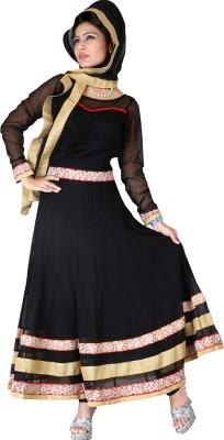 Ample Net Self Design Semi-stitched Salwar Suit Dupatta Material