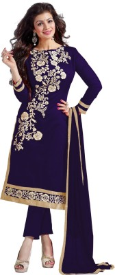 Smart products Georgette Embroidered Semi-stitched Salwar Suit Dupatta Material at flipkart