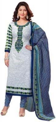 Vinayak Creation Cotton Graphic Print Semi-stitched Salwar Suit Dupatta Material