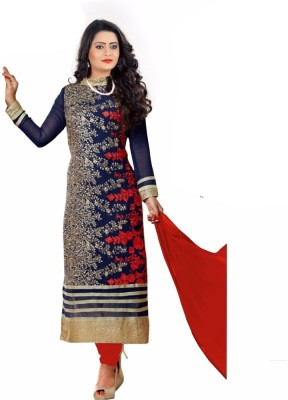 Wow Sales Georgette Embroidered Salwar Suit Dupatta Material