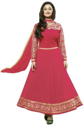Deekay cloth house Georgette Embroidered Salwar Suit Dupatta Material