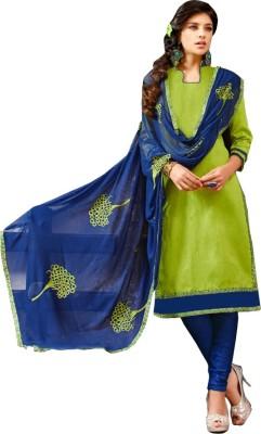 Araadhya Creations Chanderi, Cotton Self Design Salwar Suit Material