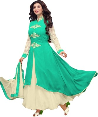 Sitaram Georgette, Net Embellished, Embroidered Dress/Top Material, Semi-stitched Salwar Suit Dupatta Material