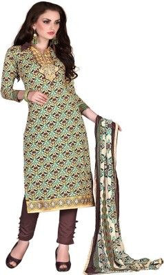 Online Fashion Marts Cotton Embroidered Salwar Suit Dupatta Material