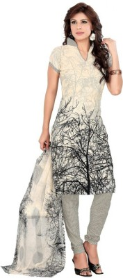 Kavya Shopping Crepe Printed Salwar Suit Dupatta Material