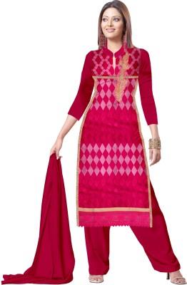 Jaimadicreation Satin Embroidered Salwar Suit Dupatta Material