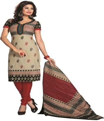 Aashvi Creation Cotton Printed Salwar Suit Dupatta Material