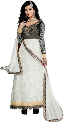 Jiya Net, Velvet Self Design Salwar Suit Dupatta Material