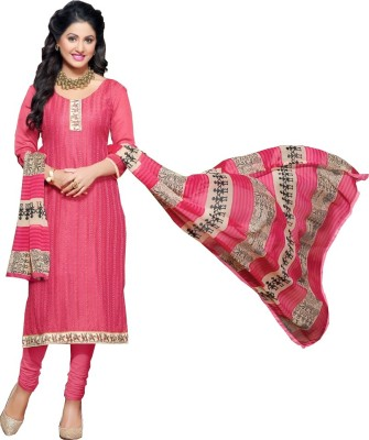Abhinaya Chanderi Embroidered Salwar Suit Dupatta Material