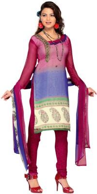Fabdeal Chiffon Printed Salwar Suit Material
