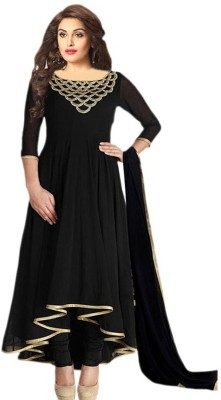 G-3 Fashion zone Georgette Embroidered Semi-stitched Salwar Suit Dupatta Material