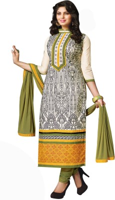 Wonder Trendz Chanderi Embroidered Semi-stitched Salwar Suit Dupatta Material